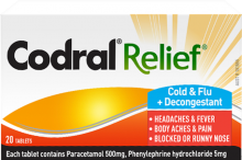CODRAL® RELIEF® Cold & Flu + Decongestant