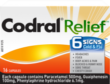 CODRAL® RELIEF® 6 Signs® Cold & Flu